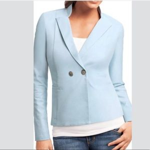 Cabi Powder Blue Blazer w/ Nautical Buttons